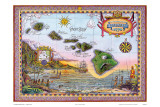 Antique Map of Old Hawaii Art by Steve Strickland