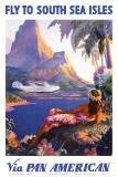 Paul George Lawler - Fly to the South Seas Isles, via Pan American Airways, c.1940s - Reprodüksiyon