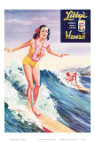 Surfer Girl, Libby's Pineapple Poster 1957 Affiches par  Laffety