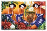 Silent Preparation, Hawaiian Hula Dancers Affiches par Warren Rapozo