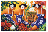 Silent Preparation, Hawaiian Hula Dancers Prints by Warren Rapozo