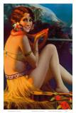 Starlight Wahine, Hawaiian Pin-up Girl, c.1920s Affiches par Gene Pressler