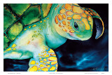 Timeless Wisdom, Hawaiian Sea Turtle Posters by Ari Vanderschoot