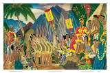 Pomp and Circumstance, Hawaiian Traditional Ceremony Art by Eugene Savage