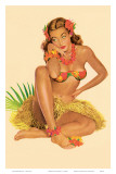 Hawaiian Pin-Up Girl, 1949 Print by Al Moore