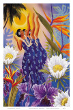 The Blossoms are Opening, Hawaiian Hula Dancers Print by Warren Rapozo