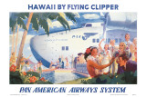 Hawaii by Flying Clipper, Pan American Airways System Plakat