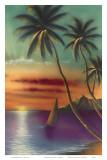 Diamond Head Sunset, Oahu, Hawaii, USA Poster by  Mokihana