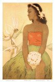 Hula Dancer, Royal Hawaiian Hotel Menu Cover c.1950s Posters by John Kelly