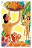 The Hawaiian Abundance, Menu Cover, c. 1930s Prints by Frank MacIntosh