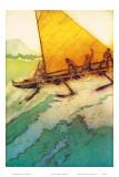 Big Surf At Waikiki, Royal Hawaiian Hotel Menu Cover c.1950s Prints by John Kelly