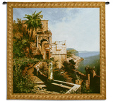 In The Garden Amalfi Coast Wall Tapestry by Franz Richard Unterberger