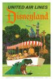 United Airlines Disneyland, Anaheim, Kalifornien, 1960-talet Affischer av Stan Galli