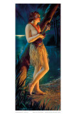 Ukulele Wahine, Topless Hula Pin-up Girl c.1930s Posters by Gene Pressler