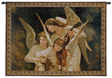 Angels Playing Violin Wall Tapestry by William Adolphe Bouguereau