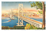 Oakland Bridge, San Francisco, California, USA Prints