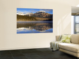 Pyramid Lake, Jasper National Park, Alberta, Canada Wall Mural by Walter Bibikow