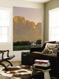 Boschendal Wine Estate, Franschoek, Cape Province, South Africa Wall Mural by Walter Bibikow