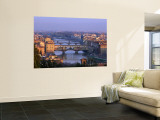 Ponte Vecchio and Arno River, Florence, Tuscany, Italy Wall Mural by Steve Vidler