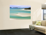 Whitehaven Beach, Witsunday Islands, Queensland, Australia Wandgemälde von Michele Falzone
