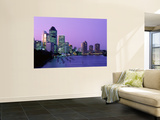 City Skyline, Brisbane, Queensland, Australia Wall Mural by Steve Vidler