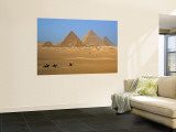 Pyramids at Giza, Cairo, Egypt Wall Mural by Jon Arnold