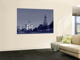 St. Basil's Cathedral and Kremlim, Red Square, Moscow, Russia Wall Mural by Jon Arnold