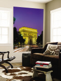 Arc de Triomphe, Night View, Paris, France Wall Mural by Steve Vidler