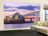 Opera House and Harbour Bridge, Sydney, New South Wales, Australia Wall Mural – Large by Michele Falzone