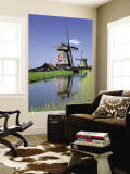 Windmills near Amsterdam, Holland Wall Mural by Gavin Hellier