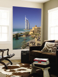 Mina a Salam and Burj Al Arab Hotels, Dubai, United Arab Emirates Wall Mural by Gavin Hellier