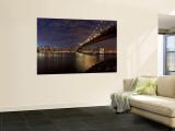 Manhattan Bridge and Brooklyn Bridge, New York City, USA Wall Mural by Michele Falzone