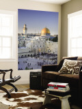 Western Wall and Dome of the Rock Mosque, Jerusalem, Israel Wall Mural by Michele Falzone