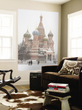 St. Basil&#39;s Cathedral, Red Square, Moscow, Russia Wall Mural by Ivan Vdovin