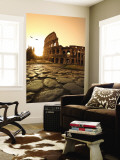 Colosseum and Via Sacra, Sunrise, Rome, Italy Wall Mural by Michele Falzone