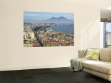 Mt. Vesuvius and View over Naples, Campania, Italy Wall Mural by Walter Bibikow