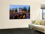 Holland, Amsterdam, Keizersgracht and Leidesegracht Canals Wall Mural by Gavin Hellier