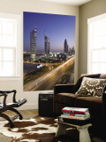 Sheikh Zayad Road and the Emirates Towers, Dubai, United Arab Emirates Wall Mural by Gavin Hellier