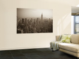 Manhattan Skyline Including Empire State Building, New York City, USA Reproduction murale géante par Alan Copson