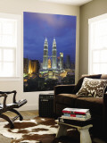 View over Kuala Lumpur City Centre and Petronas Towers, Kuala Lumpur, Malaysia Mural por Gavin Hellier