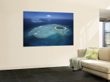 Aerial View of Tropical Island, Tavarua Island, Fiji Wall Mural by Neil Farrin