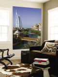 Burj Al Arab Hotel from the Madinat Jumeirah Complex, Dubai, United Arab Emirates Muurposter van Walter Bibikow