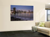 Lower Manhattan and Brooklyn Bridge, New York City, USA Wall Mural by Alan Copson
