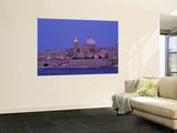 City Skyline at Dusk, Valetta, Malta Wall Mural by Steve Vidler