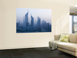 Emirates Towers, Sheik Zayed Road Area, Dubai, United Arab Emirates Wall Mural by Walter Bibikow