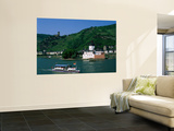 Pfalz Castle and Rhine River, Kaub, Rhineland, Rhine Valley, Germany Wall Mural by Steve Vidler