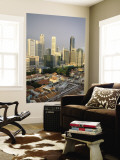 City Skyline and Chinatown Rooftops, Singapore Wall Mural by Steve Vidler