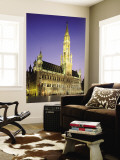 Grand Place, Town Hall, Night View, Brussels, Belgium Wall Mural by Steve Vidler