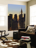 42nd Street and Chrysler Bldg, New York, USA Reproduction murale géante par Walter Bibikow