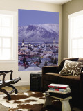 View over Reykjavik in Winter, Iceland Wall Mural by Gavin Hellier